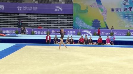 2020年 全锦赛 女子资格赛暨团体决赛 朱云琼 贵州 自由操