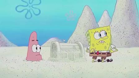 海绵宝宝动手能力真强,做出沙雕版蟹堡王和蟹黄堡,太袖珍了