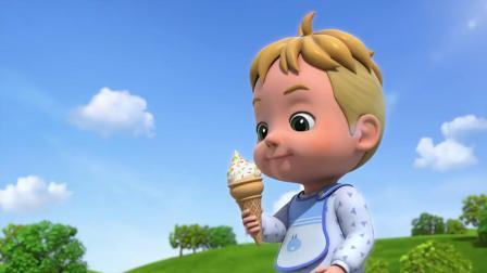 超级飞侠:艾丹变成巨婴,想吃酸奶冰淇淋,却没有那么大的!