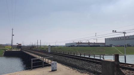 货列 36366次 HXN50272 通过宁芜线K76KM马鞍山芦杨村附近