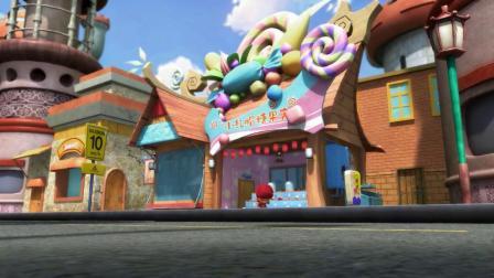 猪猪侠:爱吃糖果的怪兽,糖果店被洗劫一空,限量棒棒糖都被吃光!