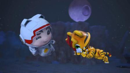 猪猪侠:猪猪侠和迷糊博士走散,来到月球正面,温度高达上百度!