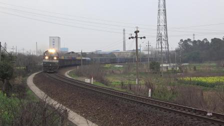 货列 26121次 HXN50283 通过宁芜线K72KM采石站道口