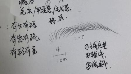 南宁纹绣速成班学费多少,野生眉的画法步骤,肖苗老师