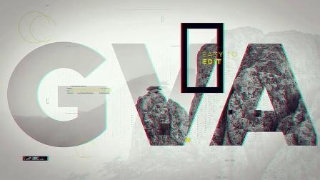 媒体推广创意宣传片头大文字遮罩像素拉伸转场视频AE模板展示ae模板