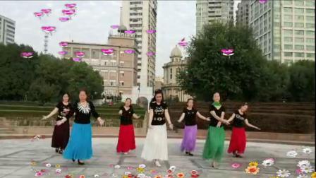 武汉江滩开心舞场广场舞:蓝色天梦