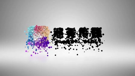 粒子上升汇聚LOGO标志片头