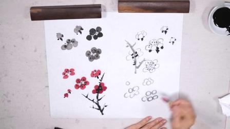 杭州大鸿国画培训班 国画昆虫绘画技法 兰花国画入门图片