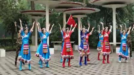 武汉江滩开心舞场2020年庆祝国庆、中秋节系列活动特记广场舞:祖国你好