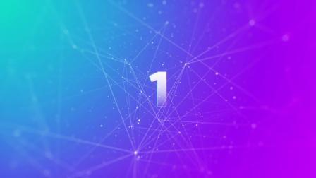 10秒倒计时高清素材片头 Elegant Plexus Countdown