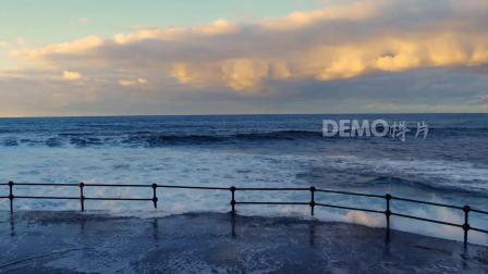 歌曲配乐  a575 4K高清画质唯美蓝天白云海洋海水海浪冲刷海岸沙滩歌舞表演年会晚会舞会节日节目舞台走秀演出LED大屏幕背景素材 大屏素材