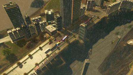 模仿GTA5地图做的城市 都市天际线日常视频