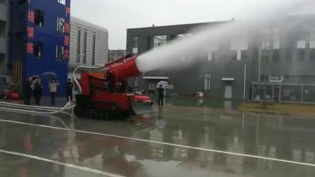 北京凌天柴油版灭火排烟机器人雾炮