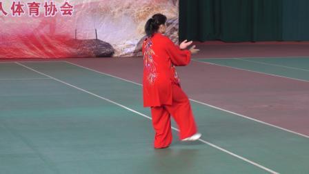 女子各式太极拳规定套路   参赛:运城市代表队 师梅英