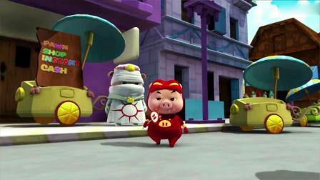 猪猪侠:杰克去街上卖牛,最后竟换来了一颗豆子,这是被坑了吧!