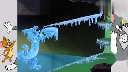 猫和老鼠:汤姆可能嘚瑟了,杰瑞泰菲变雪人,根本动不了了吧