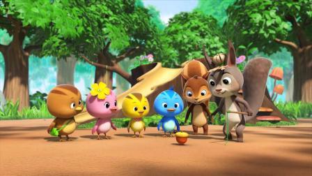萌鸡小队:松鼠表哥来了,怕萌鸡们不跟他玩,就一直来捣乱!