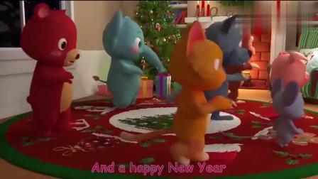 幼儿益智动漫:小狼太坏了,还好得到了原谅,有地方过圣诞.