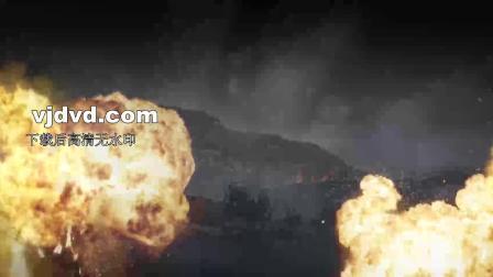 战争情景剧魂铸巴山舞蹈战火硝烟风雨配乐成品led背景视频1734