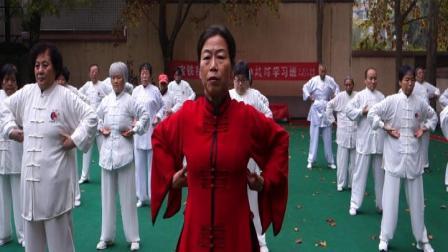 宝铁武协培训班二队演练健身气功《八段锦》