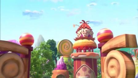 超级伊仔:艾伦拿到草莓蛋糕,结果一下爆掉,又被伊仔捉弄很不爽