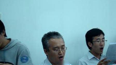 指挥家王延辉2009年在山东联通排练大合唱4