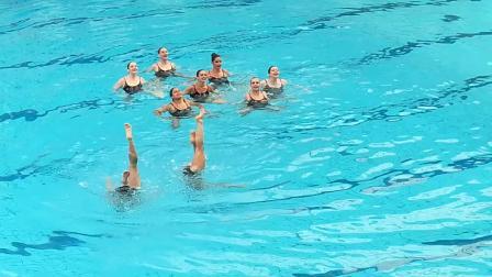Paris 2018 Aqua Water 水上芭蕾 成人编舞 业余