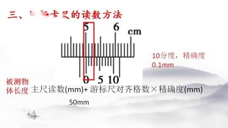 实验微课程之游标卡尺的原理及读数方法