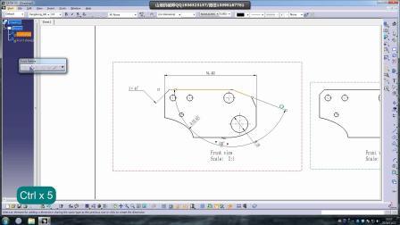 CATIA工程图标准编辑工具 CATIA快速修改工程图中字体大小及标注箭头 CATIA国标工程图