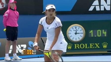 【自制HL】雷扎伊vs米尔扎 2010年澳网女单第一轮