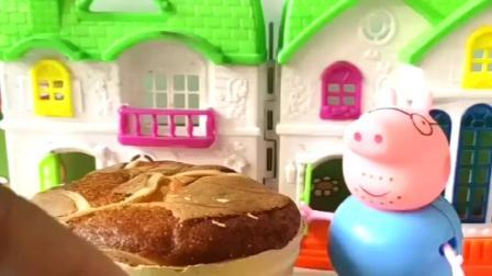 猪妈妈过生日,猪爸爸买不到蛋糕,亲手给猪妈妈做了蛋糕