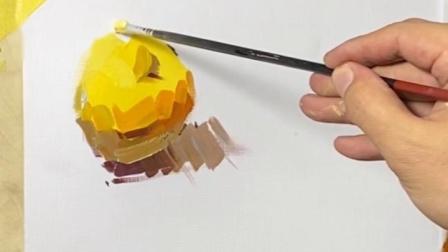 【郑州高考美术培训班】郑州巅峰画室—水粉苹果单体教学