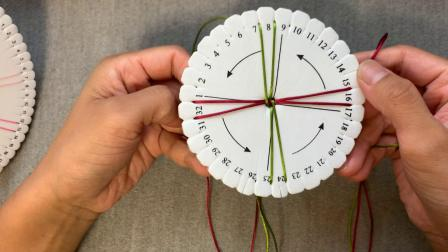 段染蜡线盘编轮回手绳视频教程芊巧手绳定制色