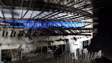 中铁上海工程局益阳高铁项目决战四季度 首个双幅转体梁精准对接