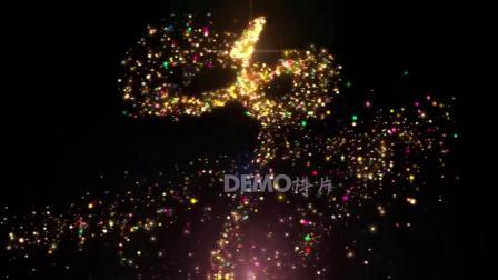 歌曲配乐 a859 2K画质唯美震撼七彩颜色粒子下落粒子雨宇宙星空星星夜色粒子效果歌舞晚会节目表演舞台大屏幕LED背景视频素材 大屏素材
