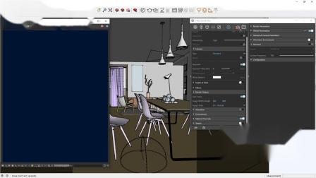 V-Ray Next for SketchUp – 室内灯光设置 - 夜景