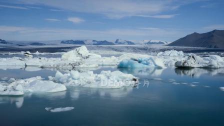 歌曲配乐 a884 冰岛海洋浮冰冰块冰川冰山冰天雪地南极洲北极洲壮美大自然景色保护地球宣传片视频素材 大屏素材