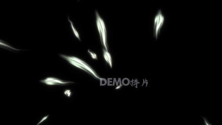 歌曲配乐 a885 超酷白色羽毛粒子飘动飞舞动态视频背景素材 大屏素材