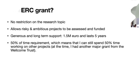 Webinar on Applying for an ERC Grant: ERC Grantee Dr Hansong Ma