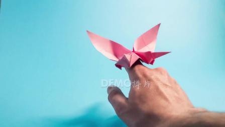 歌曲配乐 a888 超酷创意折纸千纸鹤蝴蝶飞翔动态视频素材 大屏素材