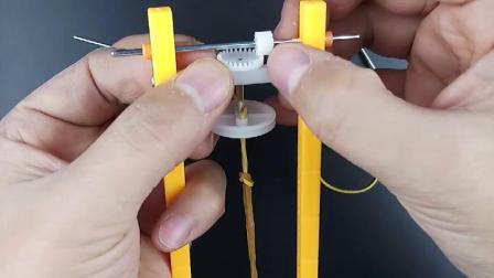 橡皮筋小车的制作方法视频