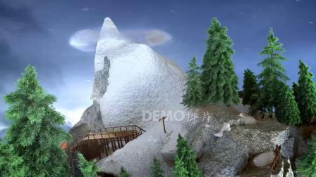 歌曲配乐 a896 超梦幻粒子树科幻童话世界幼儿园六一儿童节文艺汇演节目大屏幕舞台LED背景视频素材 大屏素材