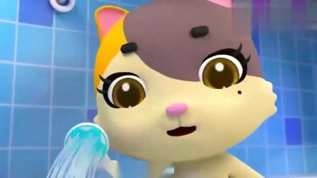 宝宝巴士:乐乐给恐龙玩具洗头发,洗完好香呀