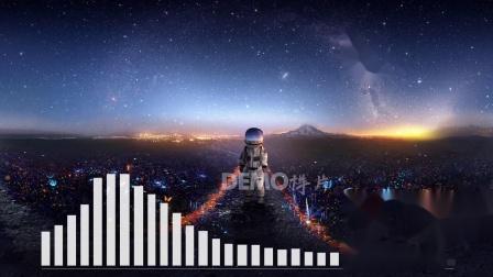 歌曲配乐 a903 超唯美梦幻蓝色宇宙星空粒子流星星星闪烁宇航员银河系月球星球童话世界二次元儿表演节目大梦想家欢乐 大屏素材