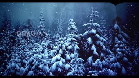 歌曲配乐 a914 超唯美绚丽白雪雪花粒子飘落圣诞树圣诞节新年元旦祝福儿童节生日祝福视频动态视频素材歌舞晚会节目表演LED背景视频素材 大屏素材 动态视频