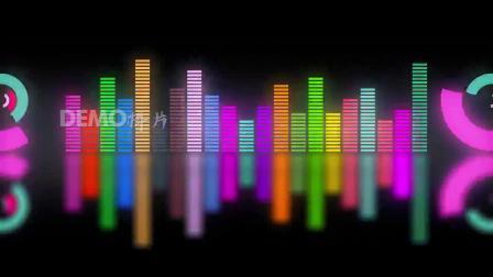 歌曲配乐 a929 可爱卡通七彩颜色音符波普频谱光线跳动炫酷动感爵士舞街舞灯光秀走秀晚会舞台六一儿童节幼儿园少儿表演晚会 大屏素材 动态视频