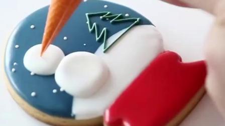 圣诞节雪人糖霜饼干手工制作