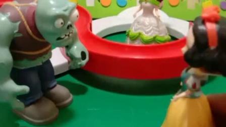 少儿益智:怪兽把贝尔白雪抓起来了,快帮帮公主吧