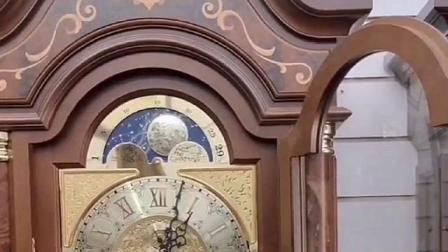 德国赫姆勒九音管三重锤拉绳机械落地钟介绍