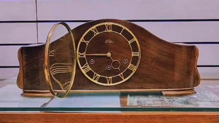德国某品牌五音簧机械实木壁炉钟介绍
